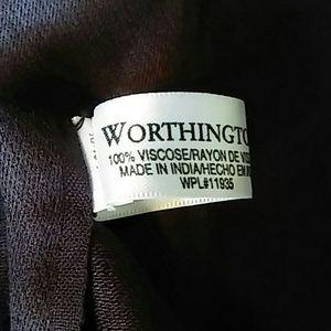 Worthington Shawl Wrap maroon